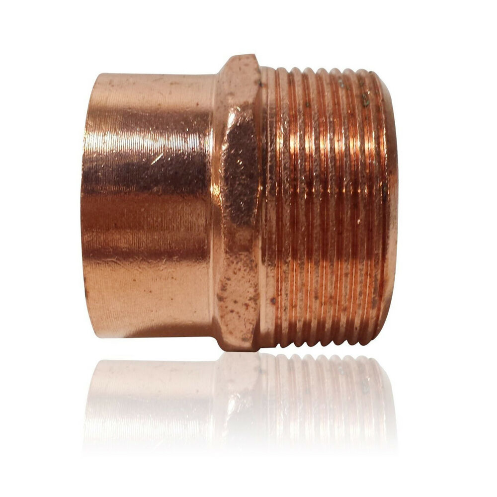 Quot threaded male adapter mip c copper pipe fitting