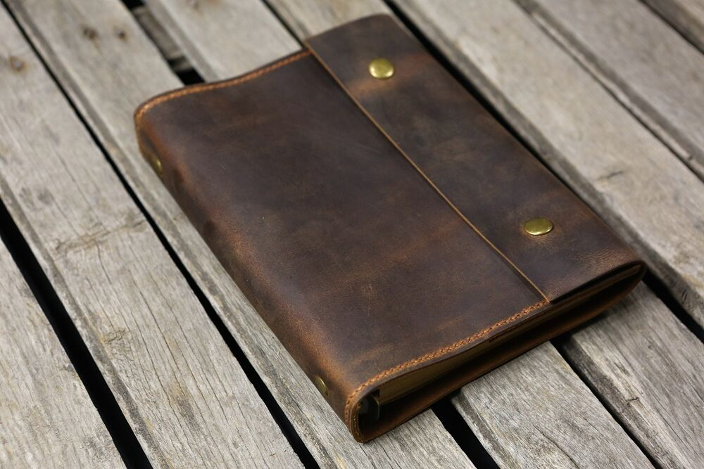 Personalized A5 Leather Journal Refillable Binder Travel