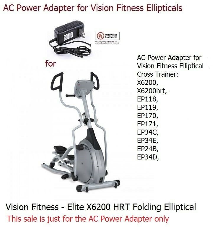 True Z5 Elliptical Power Cord: AC Adapter Power Supply For Vision Fitness Elliptical