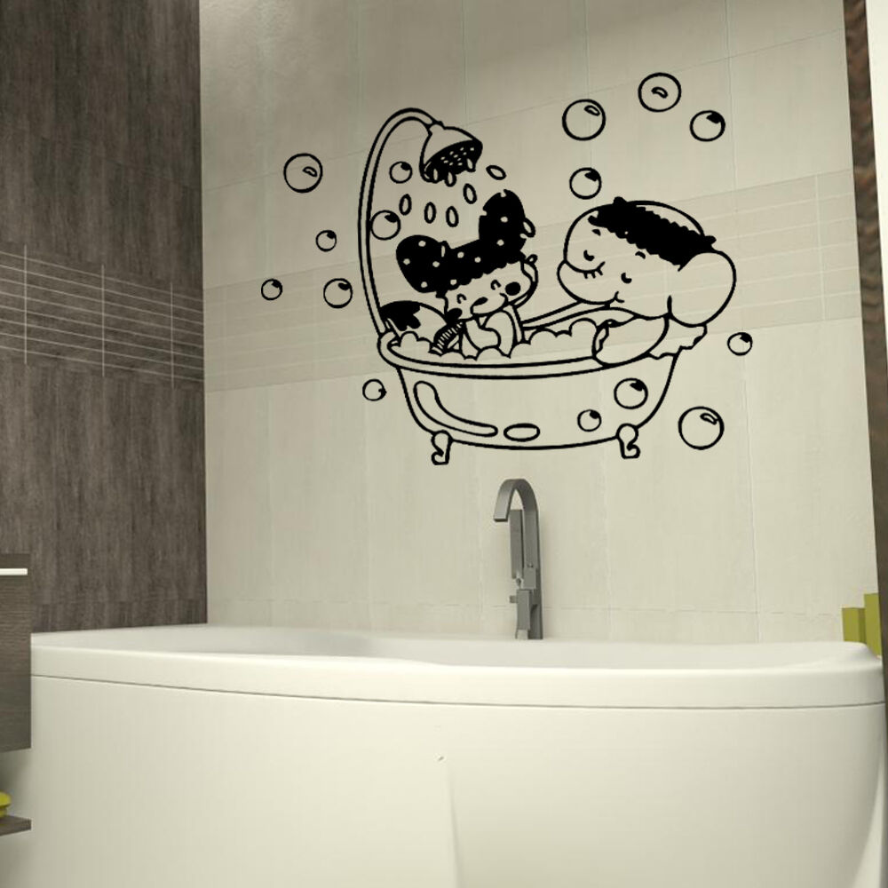 bathroom stickers for kids shower room wall stickers bathroom removable 16671