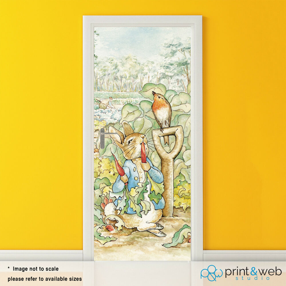 Beatrix Potter Peter Rabbit Vinyl Door Wrap Decal Sticker Self ...