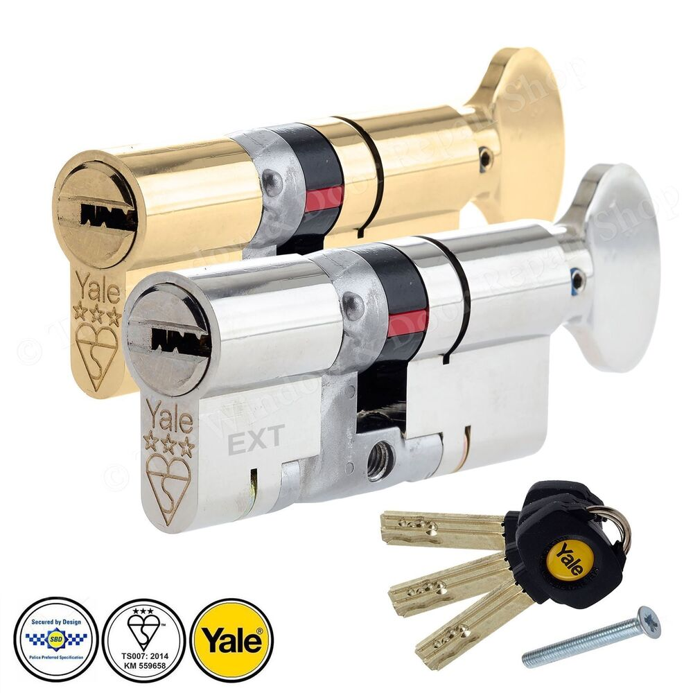 yale platinum thumb turn cylinder lock anti snap upvc door. Black Bedroom Furniture Sets. Home Design Ideas