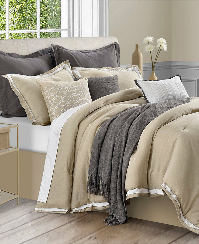 Sunham Stafford Bedding Cotton Linen 10 Piece King
