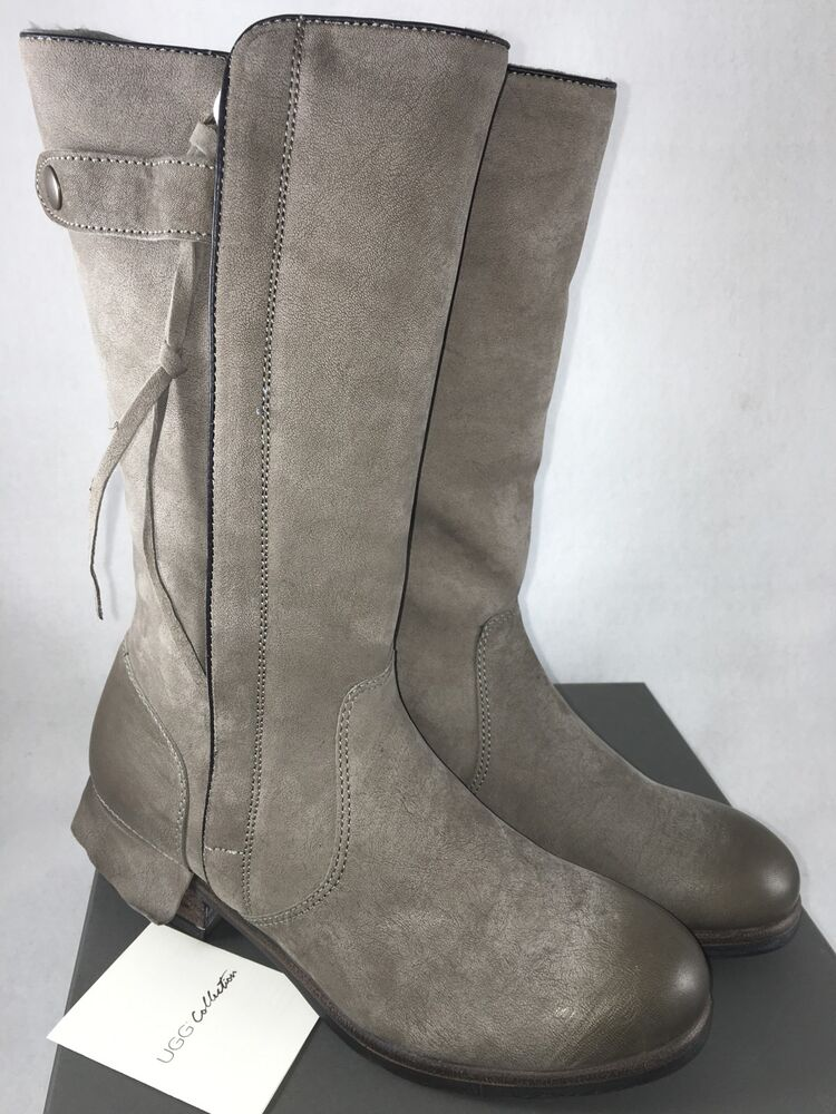 Ugg Collection Enna Grigio Womens Gray Grey Tall Leather