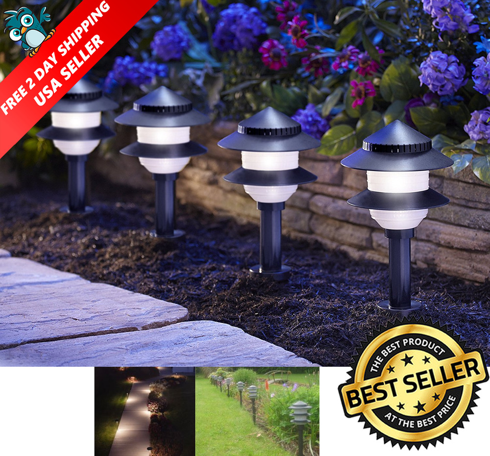 10 Pack Outdoor Landscape Fixtures Path Lighting Spot Lights Garden Low Volta