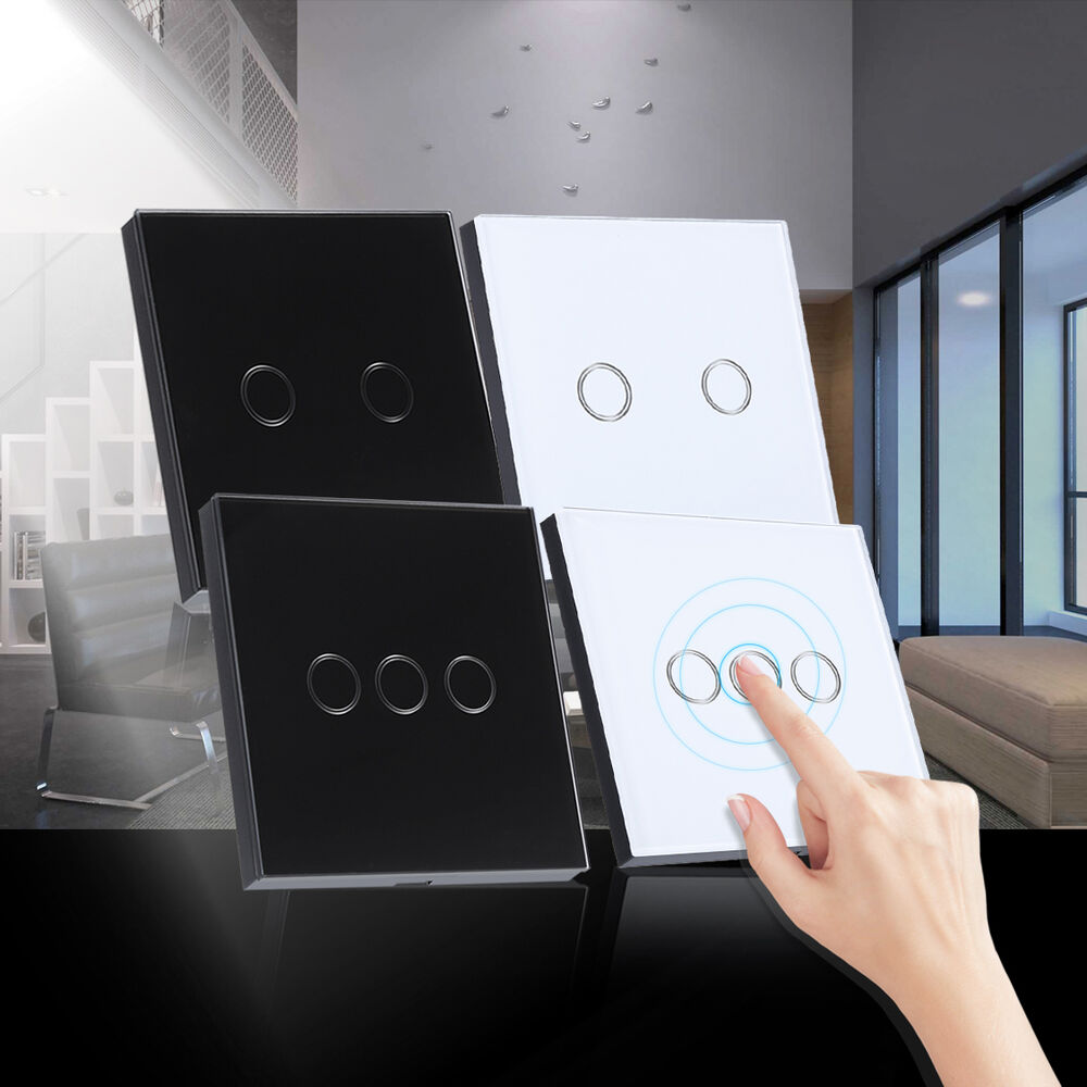 New Tempered Glass Panel Smart Home Touch Wall Light