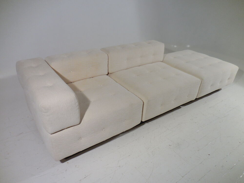 Vintage harvey probber modular tufted cube free standing for Chaise daybed sofa
