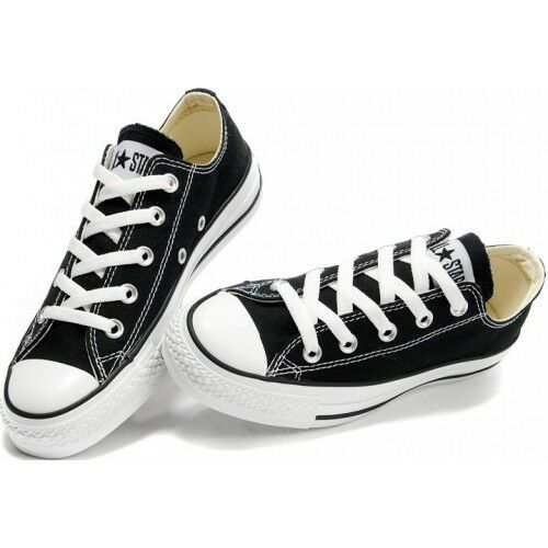 c935d71af8ed Details about Converse Chuck Taylor OX Low Top Black White Mens Womens  Shoes Sizes
