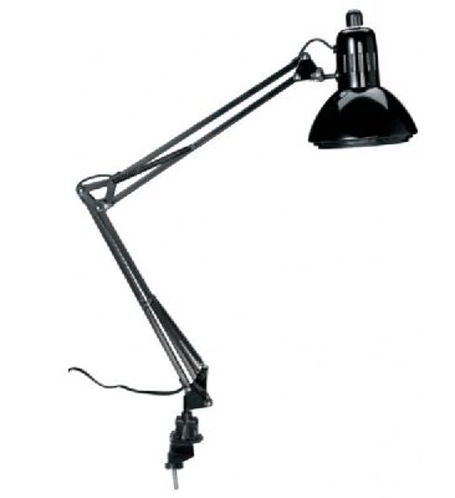 adjustable desk lamp swing arm office clamp table drawing design studio light ebay. Black Bedroom Furniture Sets. Home Design Ideas