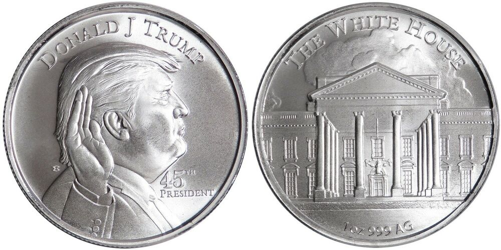 Donald J Trump 45th President The White House 1 Oz 999