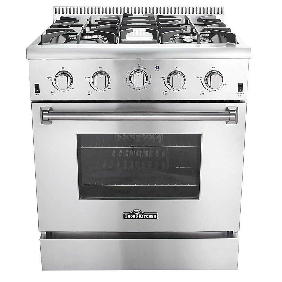 Thor Kitchen 30″ Freestanding Pro-style 4 Stainless Steel