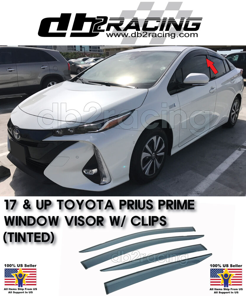 2019 Toyota Prius Prime: 2017 Prius Prime Side Window Visor Rain Guard Visors