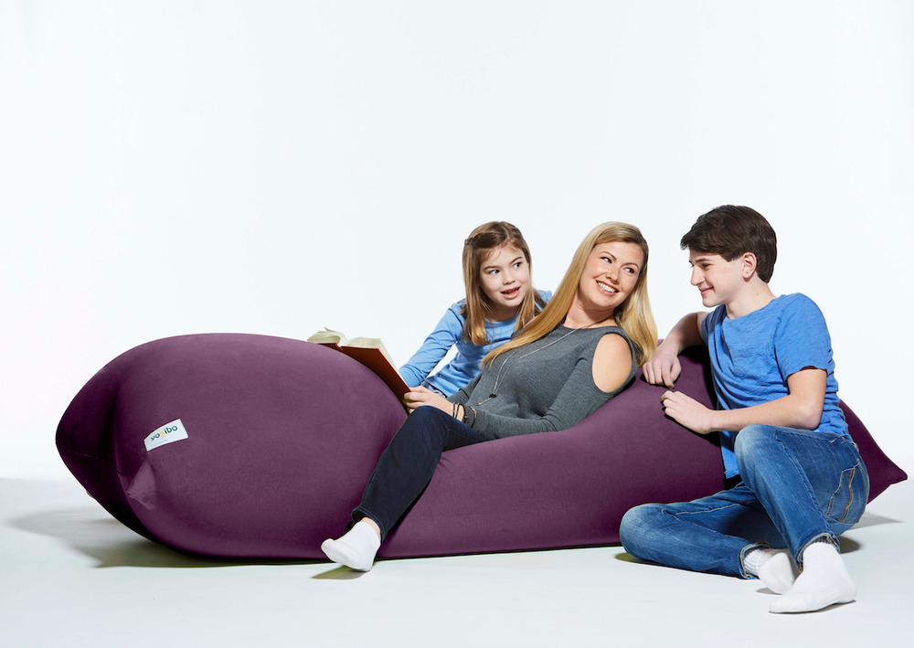 Yogibo Max Giant Bean Bag 6 Feet In Purple Can Be A Bed