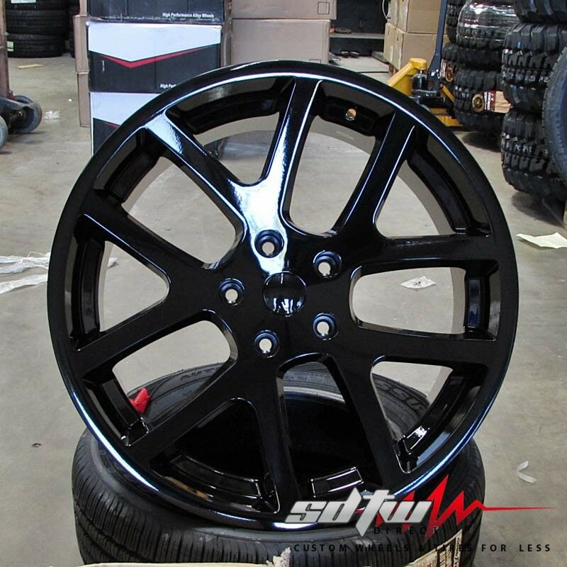 "Dodge Challenger 24 Inch Rims >> 22"" Dodge Challenger Charger Magnum 300c Viper Style Rims Gloss Black Wheels 