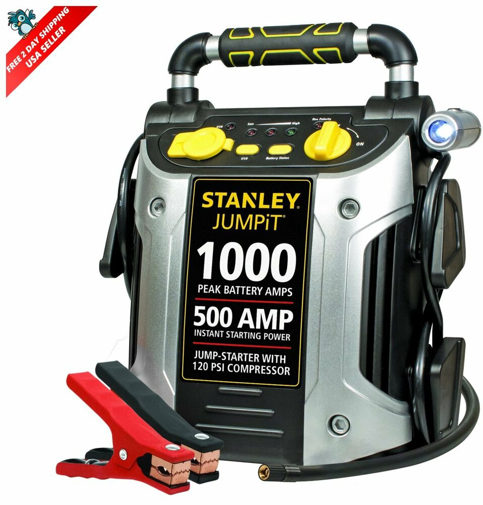 jump start battery jump starter with compressor car battery charger power 11108