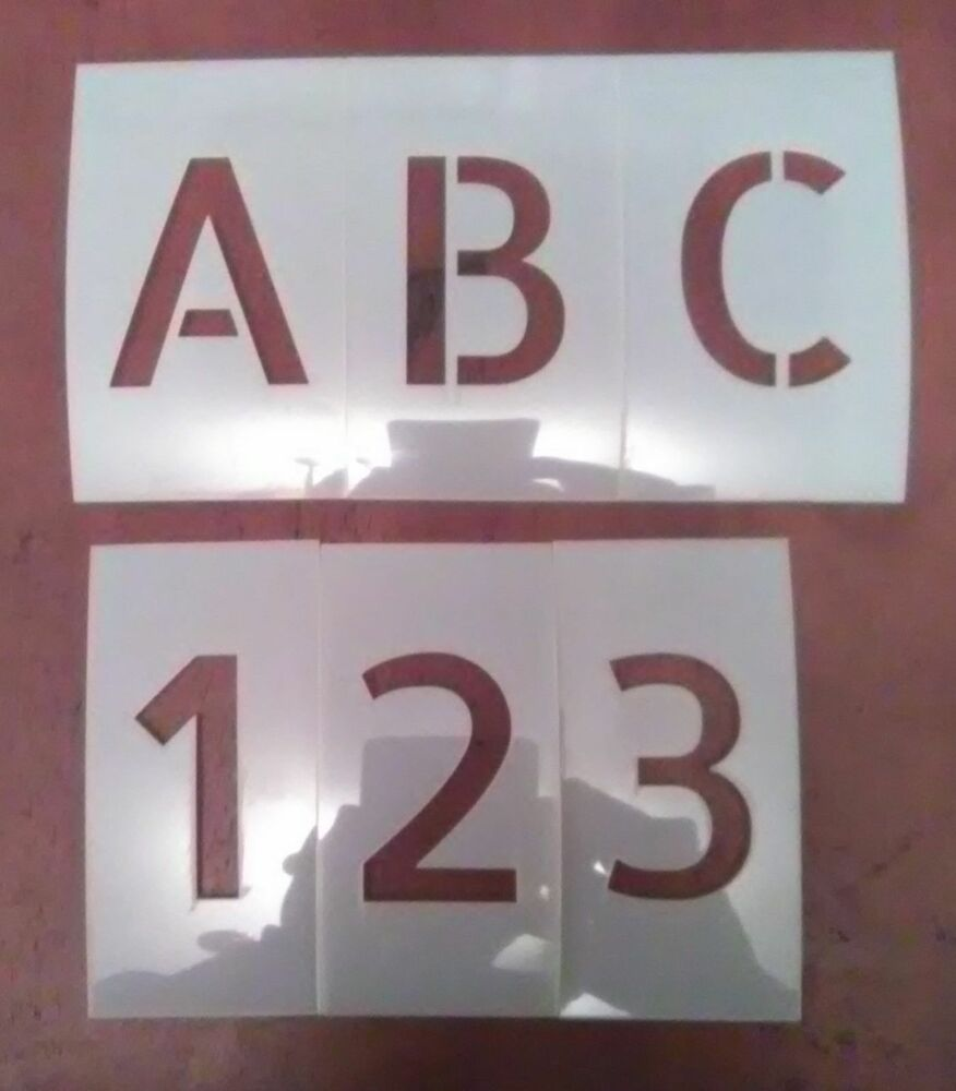 1 inch allerta uppercase alphabet and numbers set stencil for 1 inch letters