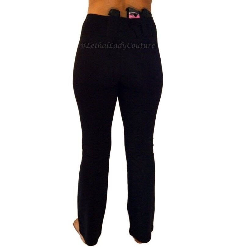 Womens Concealed Carry Yoga Pants CCW- IWB Ladies Tactical