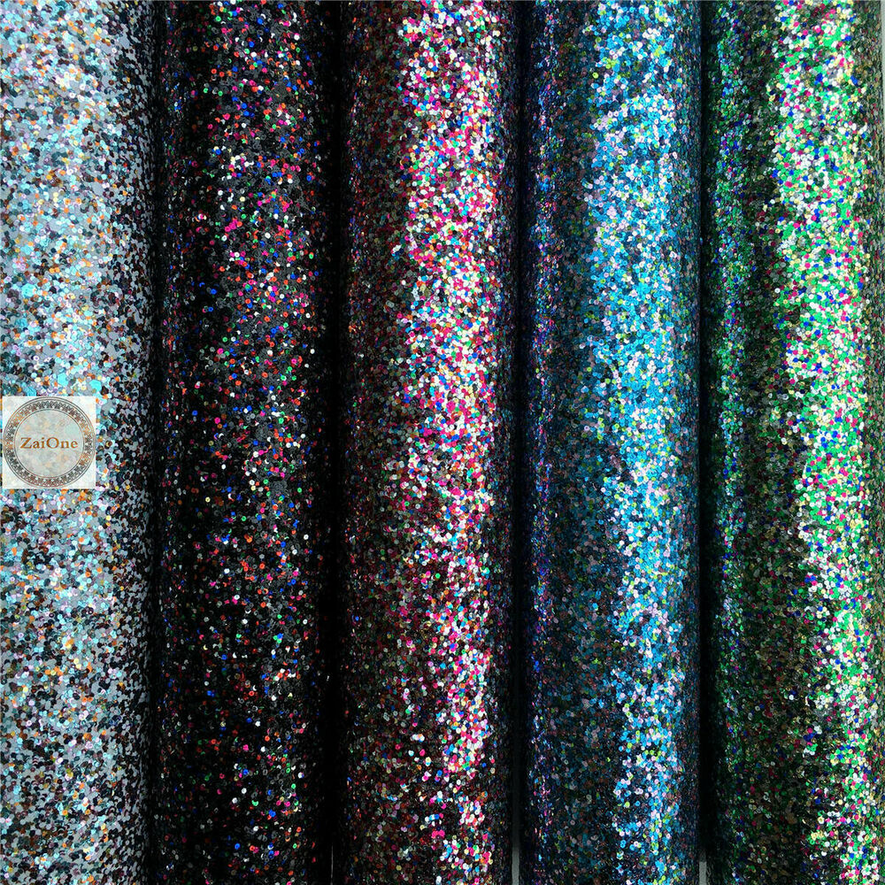 Multi color twinkling chunky glitter sparkle fabric for Sparkly material