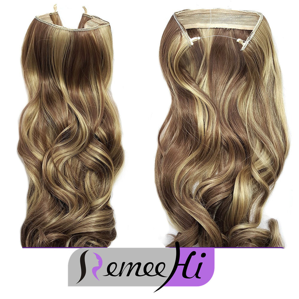 Secret Wire Hair Extensions Invisible Wire Band Remy Hair