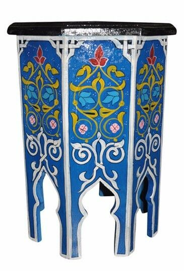 Moroccan Octagonal Hand Painted Accent Table Moorish Design Furniture End 724103451926 Ebay