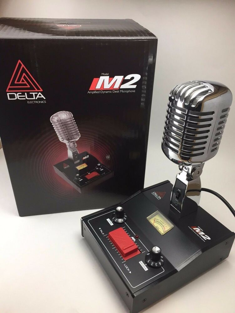 Delta M2 Amplified Dynamic Power Base Microphone 4 Pin