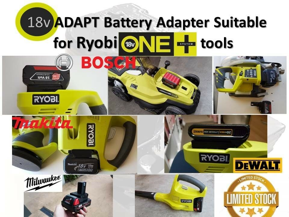 18v adapt makita bosch dewalt milwaukee battery adapter to. Black Bedroom Furniture Sets. Home Design Ideas