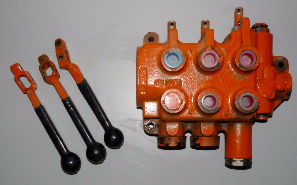 Hyd Control Valve Lever Knobs : Hydraulic control loader forklift valve with handles ebay