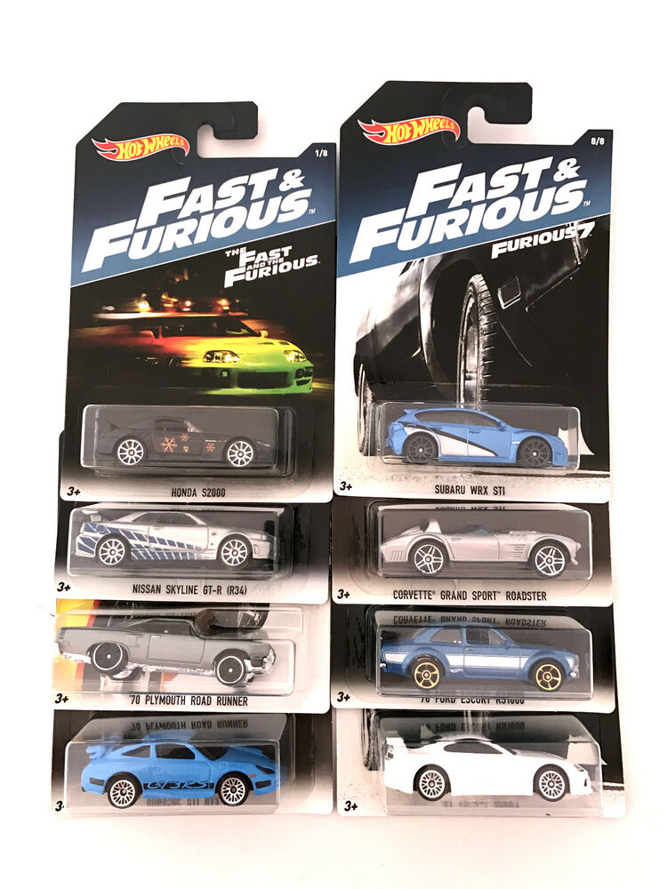 hot wheels fast and furious 8 collection 8 cars ebay. Black Bedroom Furniture Sets. Home Design Ideas