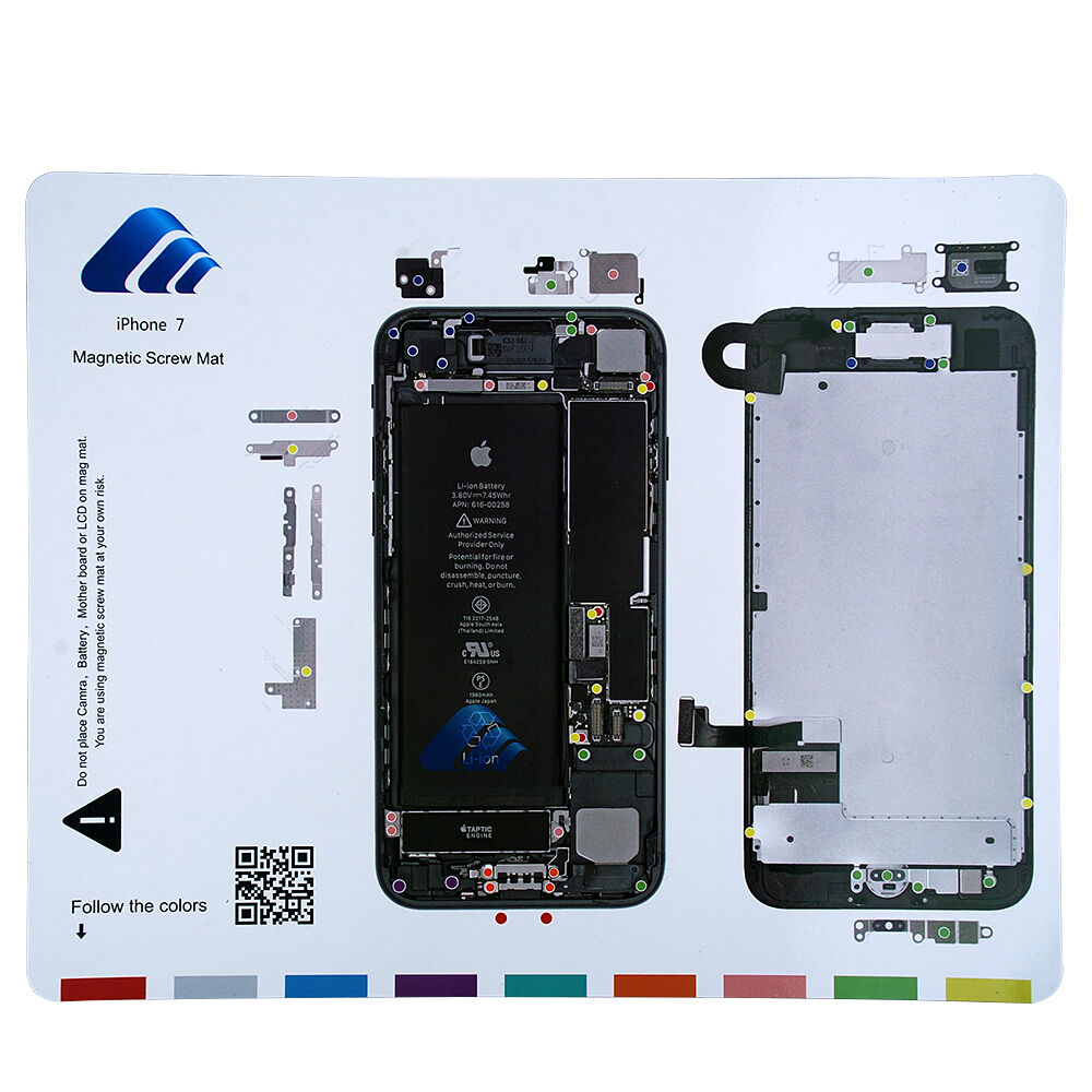 uk magnetic screw mat professional technician repair pad guide for iphone 7 ebay. Black Bedroom Furniture Sets. Home Design Ideas