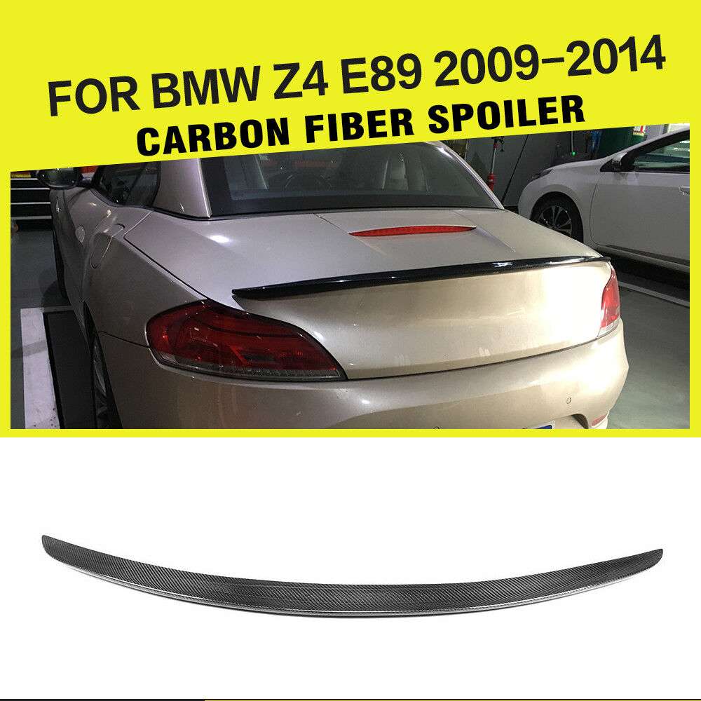 Bmw Z4 Back: Carbon Fiber 3D Style Rear Trunk Boot Spoiler Wing Fit For