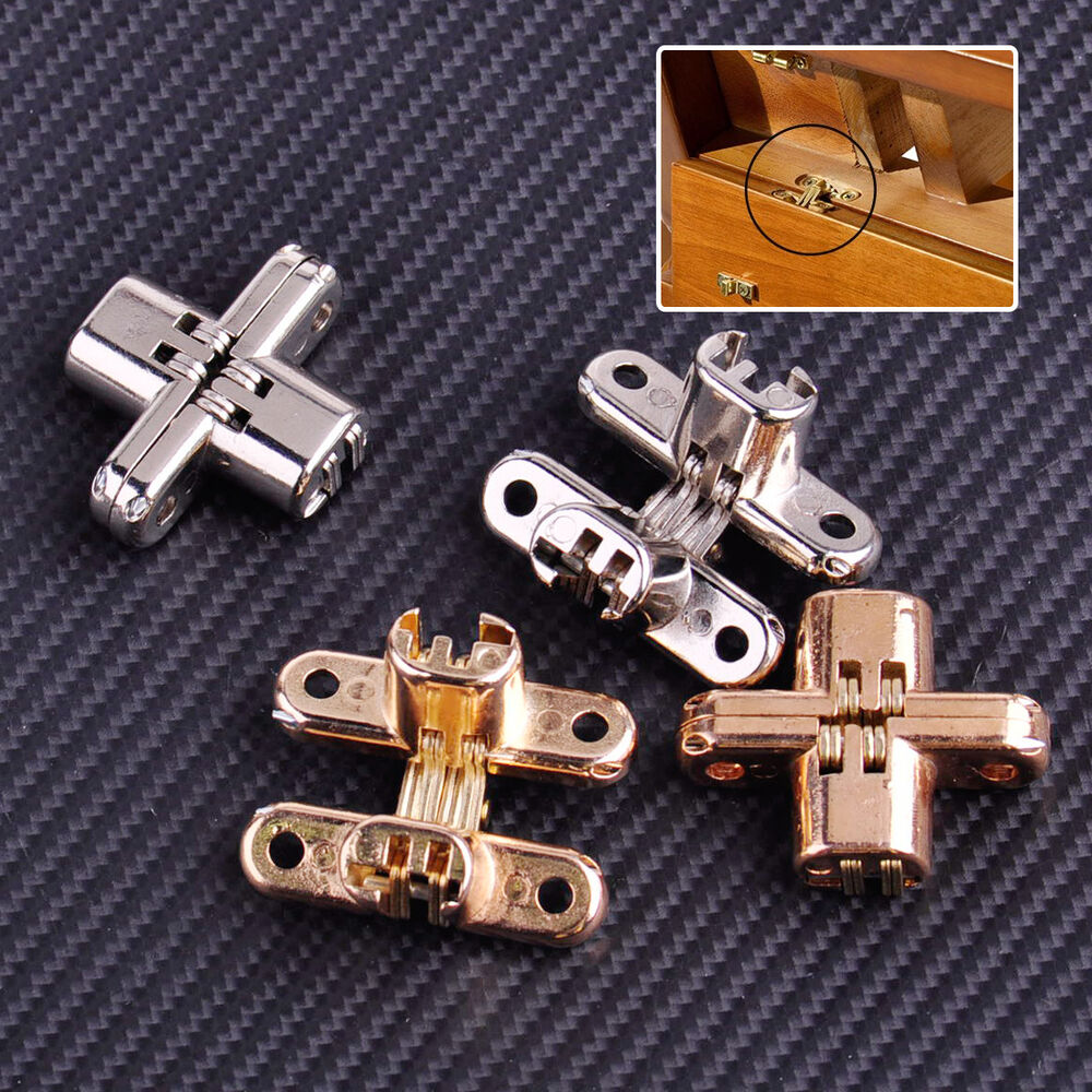 hidden cabinet hinges new 2x invisible cross hinge concealed cabinet 16287
