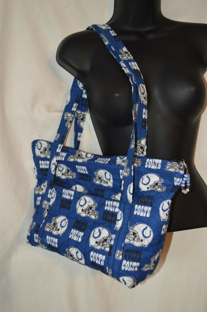 Indianapolis Colts Nfl Football Quilted Shoulder Bag Purse