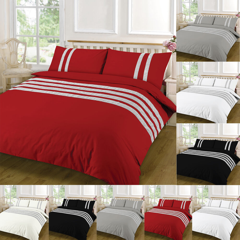 luxury duvet cover sets with pillow cases king size double single super bedding ebay. Black Bedroom Furniture Sets. Home Design Ideas
