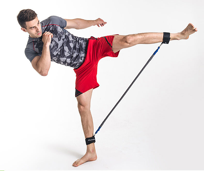 Resistance Bands Thigh Workout: Lateral Resistor Leg Trainer Strength Speed Resistance