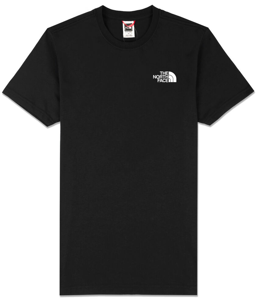 The north face simple dome small logo t shirt in black ebay for Shirts with small logos