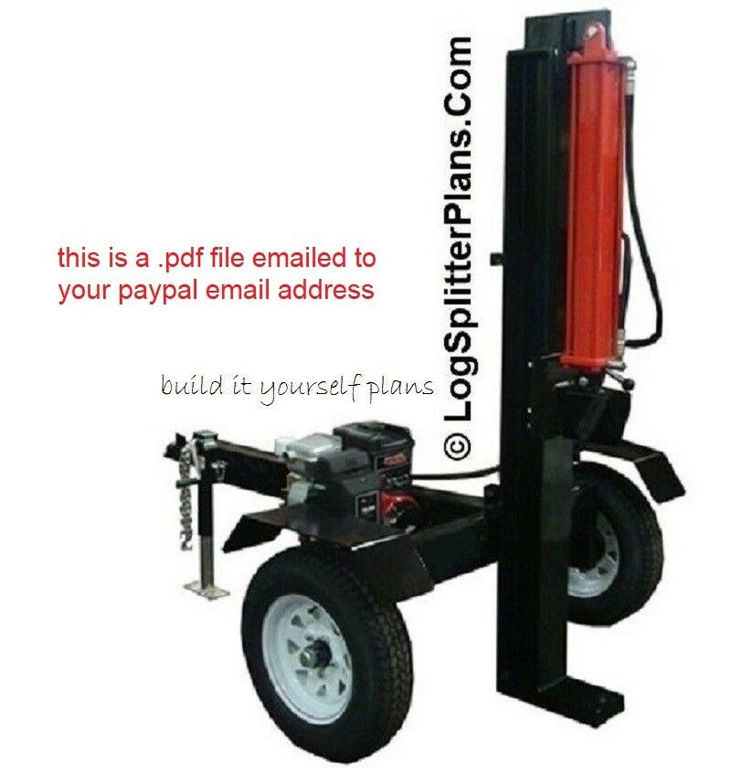 Build Your Own Hydraulic Lift : Vertical wood log splitter plans hydraulic to ton