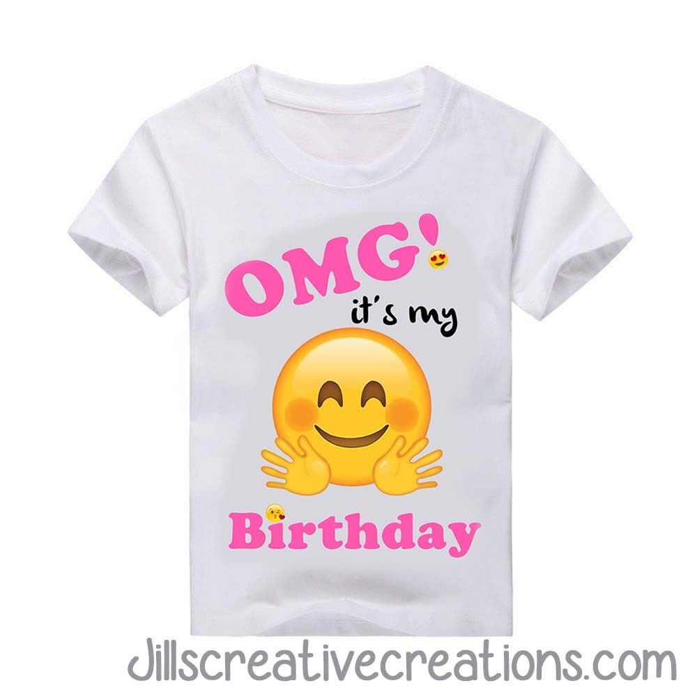 Details About Emoji Birthday Shirt T Personalized