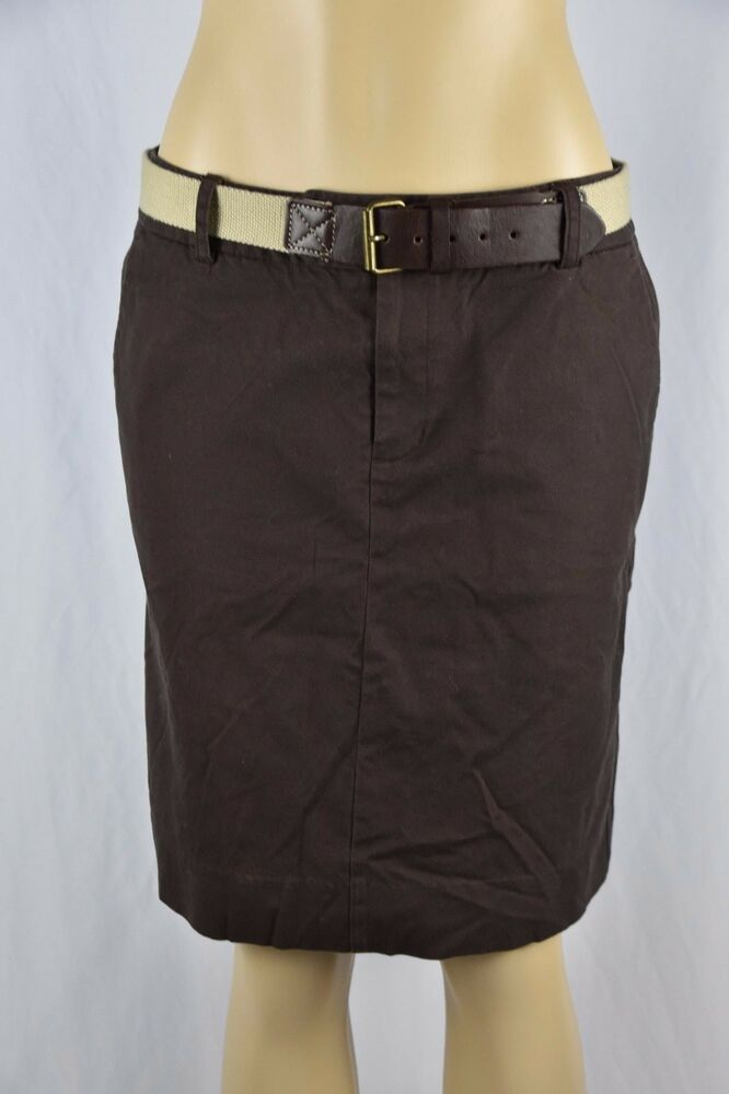 mossimo womens 8 brown pencil skirt beige