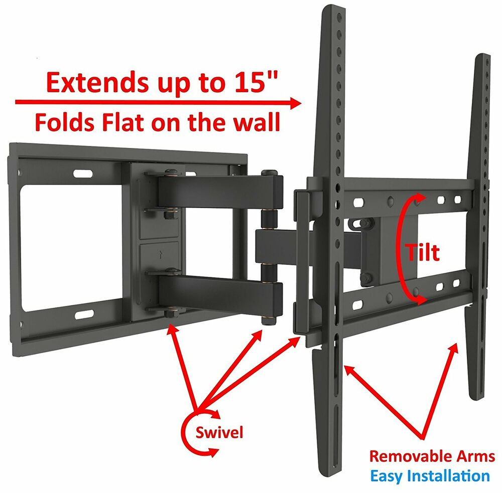 55 inch tv wall mount motion tilt tv wall mount fits most 32 55 inch led 31510