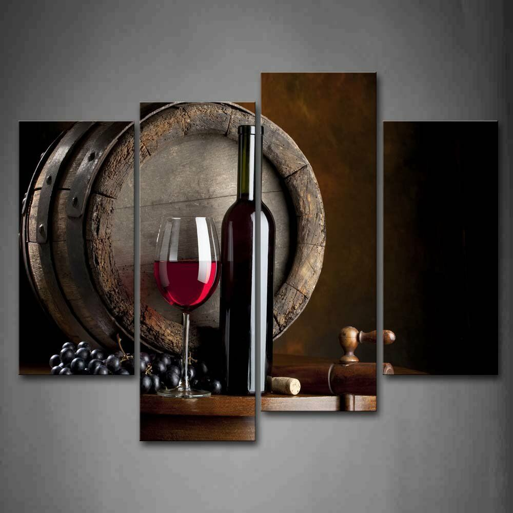 Wall art painting wine glass fruit picture print decor - Cuadros de cocina ...