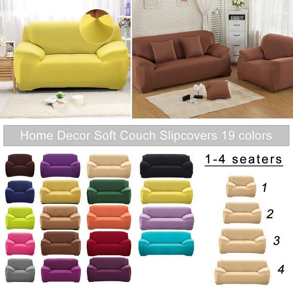 2017 hot l shape stretch elastic fabric sofa cover sectional corner couch covers ebay. Black Bedroom Furniture Sets. Home Design Ideas