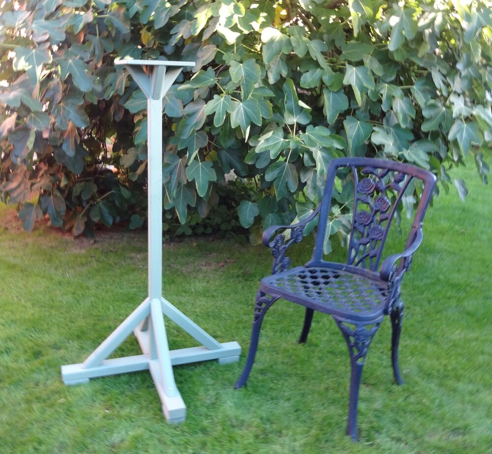 Bird Table Stand Base Wooden Large Choice Of Colours Ebay