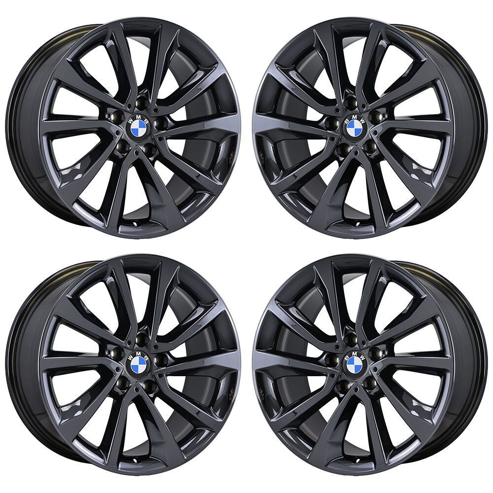 19 Quot Bmw X6 X6m Black Chrome Wheels Rims Factory Oem 2015