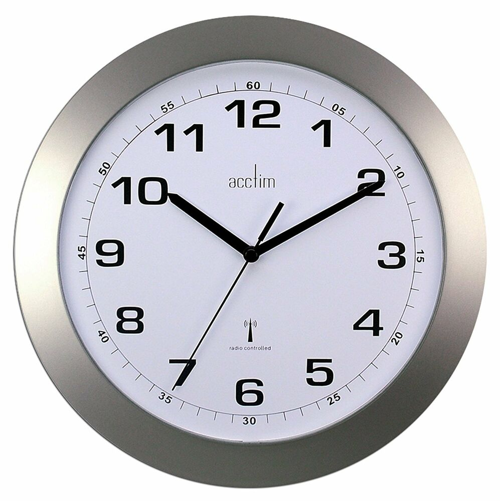 Silver Kitchen Wall Clock