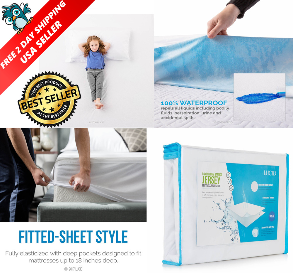 Waterproof Mattress Protector Queen Size Matress Bed Cover