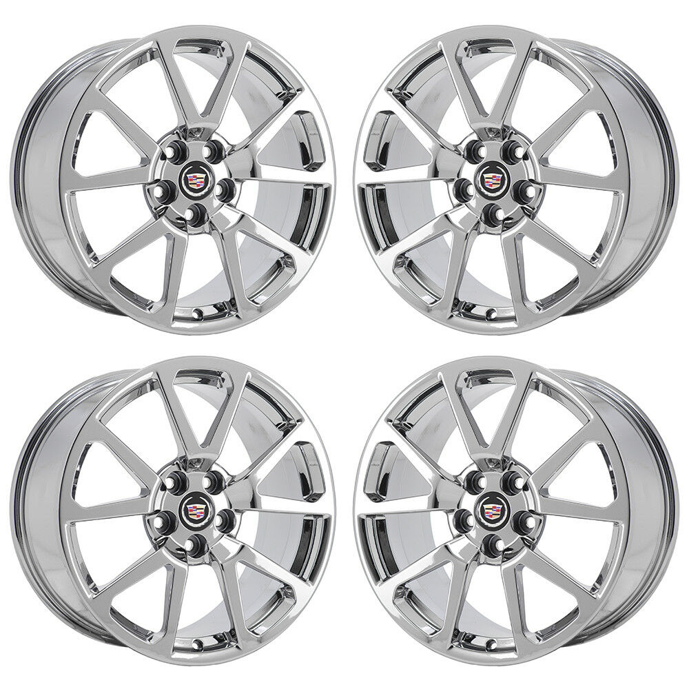 "19"" CADILLAC CTS-V COUPE PVD CHROME WHEELS RIMS FACTORY"