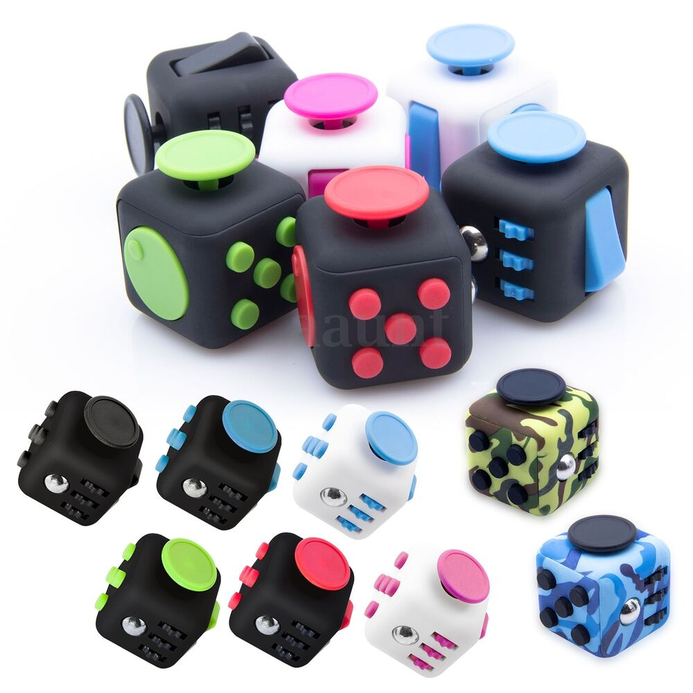 Toys For Anxiety : Fidget fun cubes anxiety stress relief attention focus