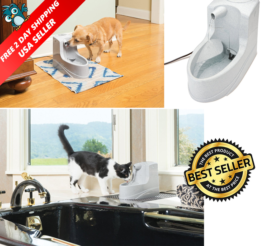 Pet Drinking Fountain Bowl Automatic Dog Waterer Cat Water Dispenser ...