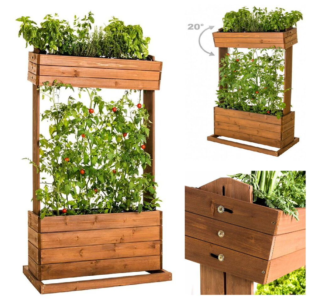 vertikales hochbeet seilrankhilfe blumenkasten pflanzk bel fr hbeet kr uterbeet ebay. Black Bedroom Furniture Sets. Home Design Ideas