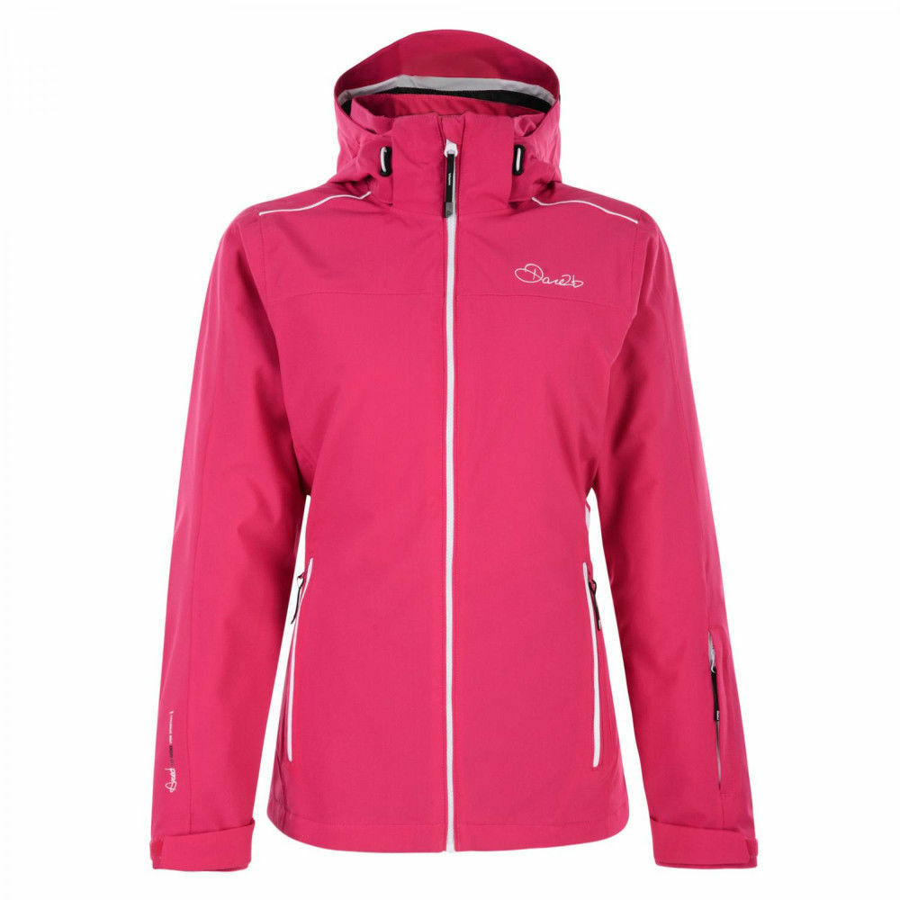 48caebe2cf Details about DARE 2B LADIES WORK UP PADDED SKI JACKET ELECTRIC PINK DWP305
